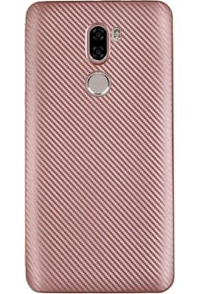 Gpack Xiaomi Mi 5S Plus Kılıf Carbon Fiber Silikon Case Bronz