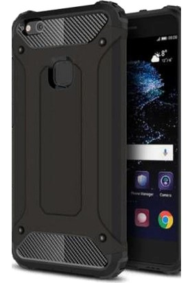 Gpack Huawei P10 Kılıf Darbe Emici Sert Crash Case Siyah