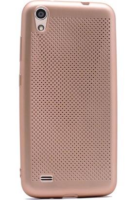 Gpack Vestel Venüs V3 5040 Kılıf Felix Delikli Silikon Gold