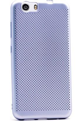 Gpack Vestel Venüs V3 5070 Kılıf Felix Delikli Silikon Gümüş
