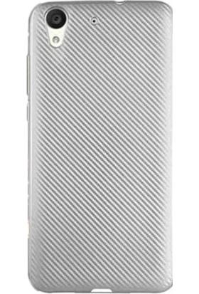 Gpack Huawei Y6 2 Kılıf Carbon Fiber Silikon Case Gümüş