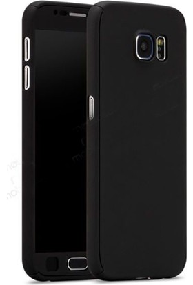 Gpack Samsung Galaxy A7 2017 Kılıf 360 Derece Full Kaplayan Rubber Siyah