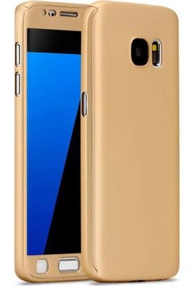 Gpack Samsung Galaxy J5 Prime Kılıf 360 Derece Full Kaplayan Rubber Gold