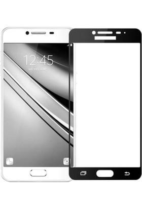 Gpack Samsung Galaxy J5 Prime Renkli Full Kapatan Ekran Koruyucu Cam Siyah