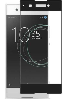 Gpack Sony Xperia Xa1 Ultra Renkli Full Kaplayan Siyah