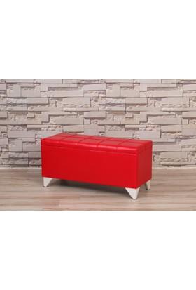 Remaks Sandıklı Puf Kırmızı 100 cm