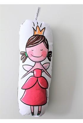 Suluboyadesign Küçük Prenses Baskılı Süs Minder