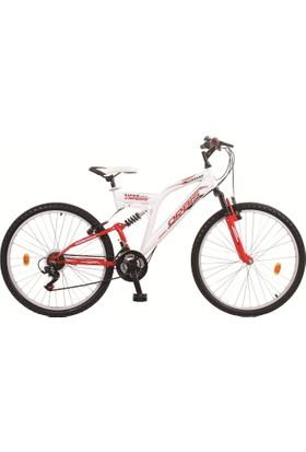 """Orbis 24"""" Dynamic Çift Amortisörlü 21 Vites Kırmızı Dağ Bisikleti"""