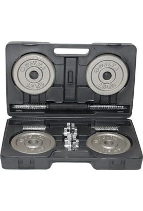 Delta Dura-Strong Deluxe Parlak Gri Döküm Plaka 15 Kg. Özel Çantalı Set - DS 1015