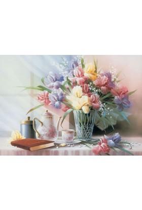 Puzz 68 x 48 cm Vazoda Çiçekler (1000 Parça Puzzle)