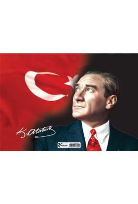 Puzz 99 Parça Çerçeveli Atatürk Yapboz (25X35 Cm)
