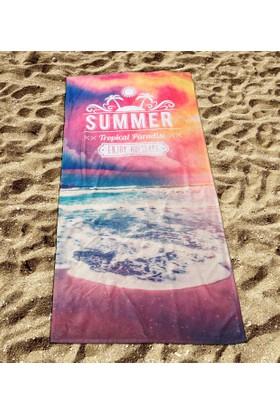 Yorkadesign Dijital Baskılı Plaj Havlusu