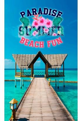 Yorkadesign Plaj Havlusu Beach Fun Desenli