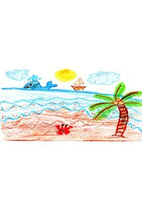 Yorkadesign Plaj Havlusu Çoçuk Desenli
