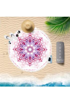 Yorkadesign Yuvarlak Plaj Havlusu 150Cm Çapında