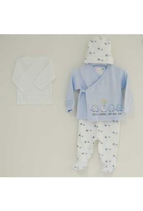 İdil Baby 8910 3'lü Bebek Tulum Takımı