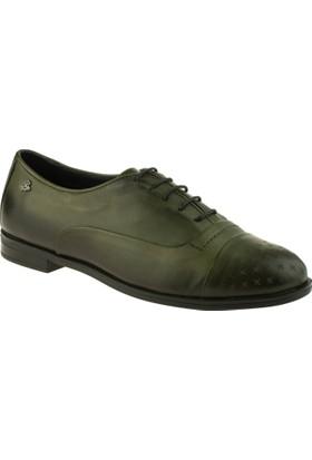 Venüs 26102 Bağlı Deri Yeşil Kadın Ayakkabı