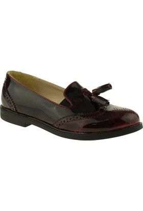 Vicco 913.V.393 Püsküllü Çocuk Bordo Çocuk Ayakkabı