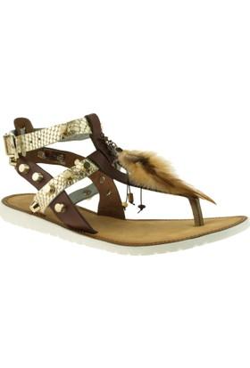 Greyder 51502 Zn Urban Casual Kahverengi Kadın Sandalet