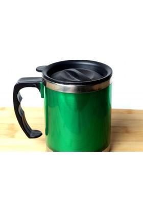 Akan Çelik Küçük Boy Yeşil Termos Kupa Bardak