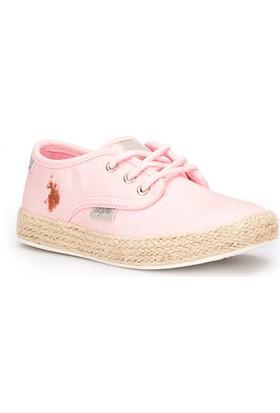 U.S. Polo Assn. Omega Pembe Kız Çocuk Slip On Ayakkabı