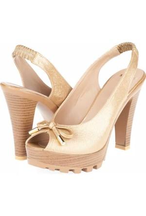 Yarım Elma Kadın Platform Topuklu Sandalet