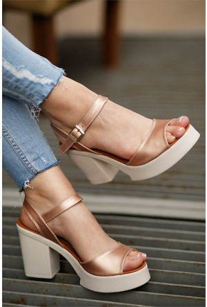 İnce Topuk Kadın Topuklu Ayakkabı 7Yaza0317557