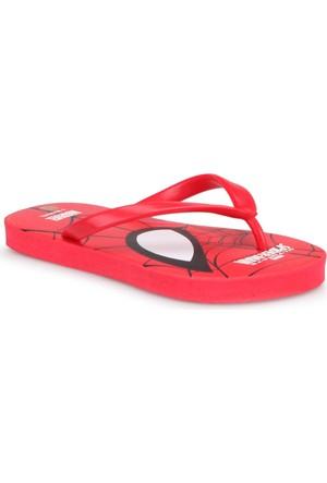 Spiderman 90651T Kırmızı Erkek Çocuk Terlik