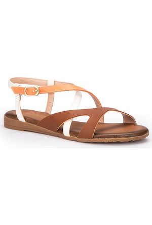 Polaris 71.310140.Z Turuncu Kadın Sandalet