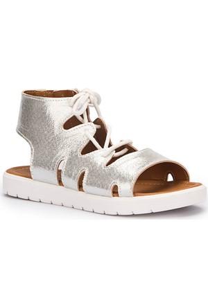 Pink Step Zeyni Gümüş Kız Çocuk Sandalet