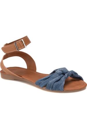 Miss F DS17045 Mavi Kadın Sandalet