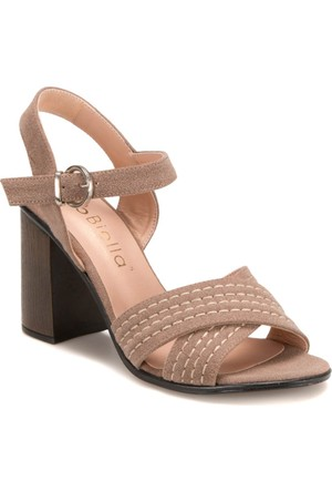 Miss F DS17060 Bej Kadın Sandalet