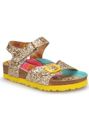 Barbie 90282T Sarı Kız Çocuk Sandalet