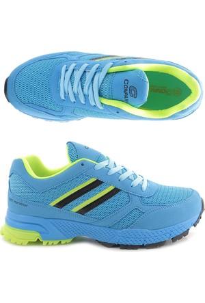 Conpax Turkuaz Neon Yeşil Kadın Spor Ayakkabı