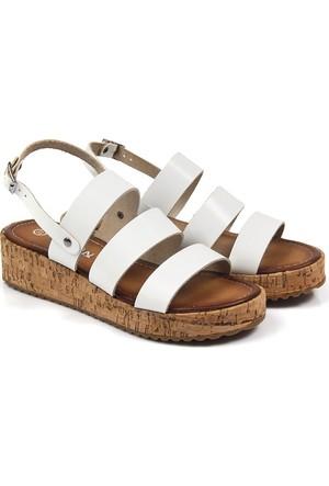Gön Deri Kadın Sandalet 45221
