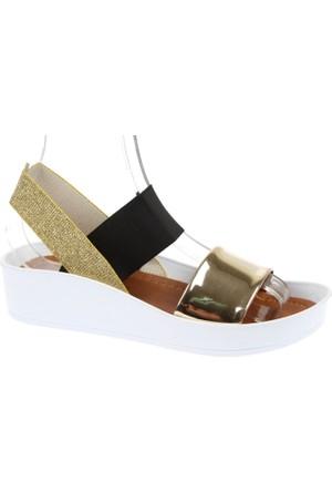 Shalin Kalın Taban Kadın Sandalet - Szr 23650 Dore