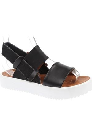 Shalin Kalın Taban Kadın Sandalet - Szr 23750 Siyah