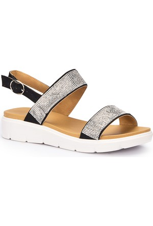 Polaris 71.310125.Z Siyah Kadın Sandalet