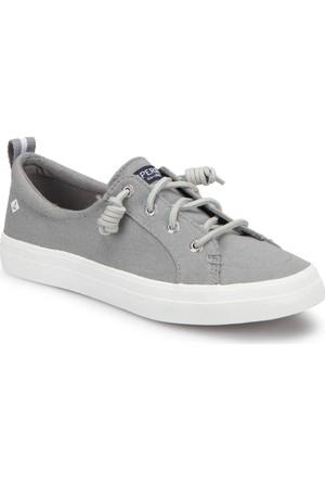 Sperry Top-Sider Sider Crest Vibe Linen Gri Kadın Sneaker Ayakkabı