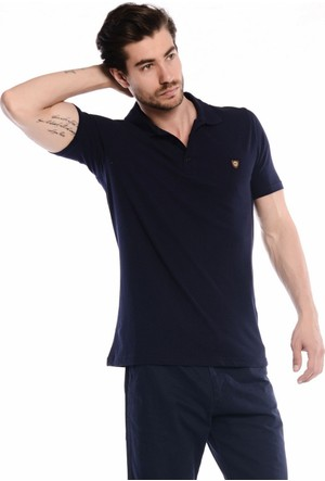 Slazenger Nartu Erkek Polo Yaka Lacivert T-Shirt