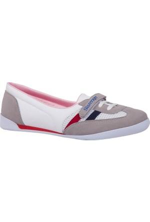 Slazenger Ulrika Kadın Babet Ayakkabı White / Navy / Red