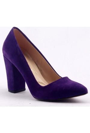 Paddy 2835 9 cm Topuk Stiletto Bayan Süet Ayakkabı