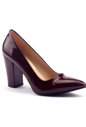 Paddy 2835 Kalın Topuk Stiletto Bayan Rugan Ayakkabı