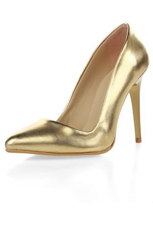 Waito 001 Altın Topuklu Ayakkabı