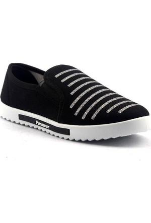 Forever 19 Günlük Keten Bayan Babet Spor Ayakkabı