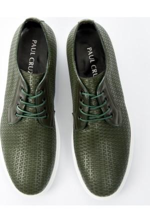 DeepSEA Haki Kare Desenli Bağcıklı Nubuk Erkek Ayakkabı 1702011-023