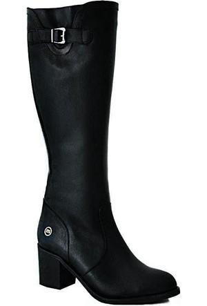 Mammamia D15Kc-2065 Deri Kadın Çizme Siyah