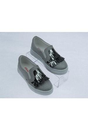 Swety Kız Çocuk Simli Püsküllü Ayakkabı