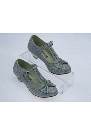 Swety Kız Çocuk Simli Topuklu Ayakkabı