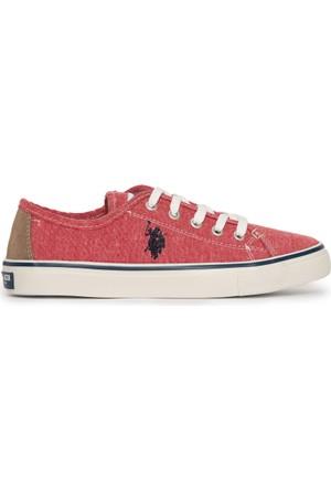 U.S. Polo Assn. Kadın Harper-Int Sneaker Ayakkabı Kırmızı